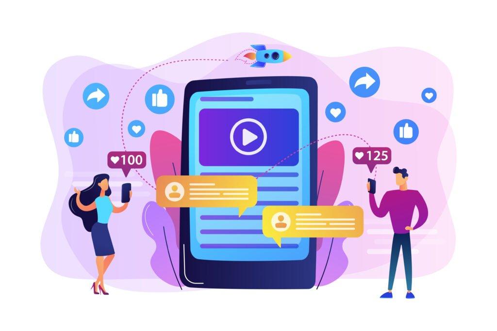 Interaktion auf Social Media